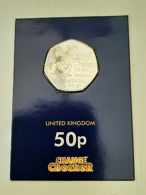 PETER PAN CAPTAIN HOOK 50p COIN 2019 NEW RELEASE FROM THE ISLE OF MAN