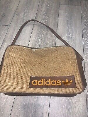 VTG Adidas Peter Black Messenger Satchel Shoulder Bag in Brown V.RARE 1970's 99p