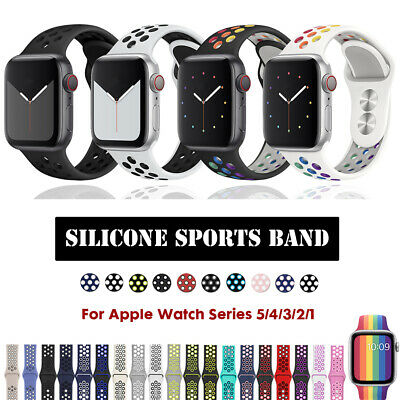 40/44mm 38/42mm Silicone iWatch Band Sports Strap for Apple Watch Series 5 4 3 2