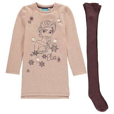 Character Kids Girls Fleece Dress Set Infant Clothing Long Sleeve Crew Neck Warm