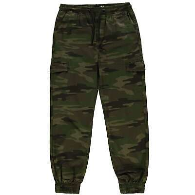 No Fear Kids Boys All Over Camo Print Trousers Junior Chino Pants Bottoms Chinos