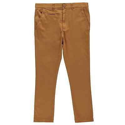 Kangol Kids Boys Skinny Chino Junior Chinos Trousers Pants Zip Fit