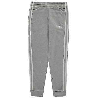 adidas Kids Girls Essentials 3 Stripe Joggers Junior Fleece Jogging Bottoms