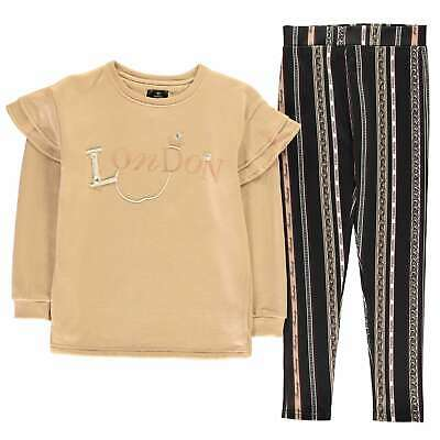 Firetrap Kids Girls Pearl Sweater and Leggings Set Infant Fleece Tracksuit Pants