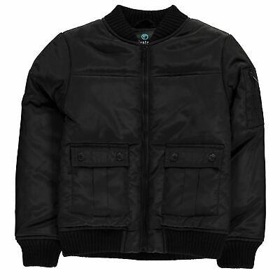 Firetrap Kids Boys Quilted Bomber Jacket Infant Midweight Coat Top Lightweight