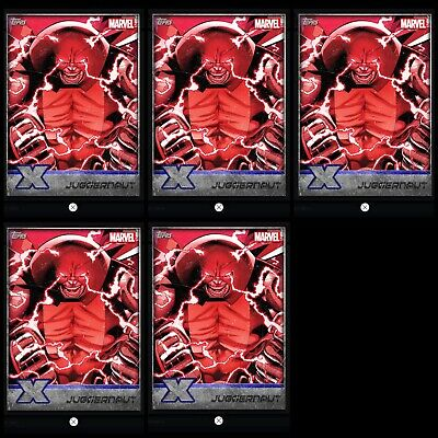 Topps MARVEL COLLECT DIGITAL Card X-MEN WEEKLY 5x SILVER COMPOSITION JUGGERNAUT