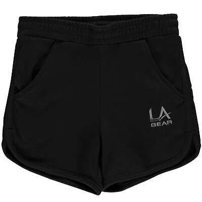 LA Gear Kids Girls Interlock Shorts Junior Jersey Pants Trousers Bottoms