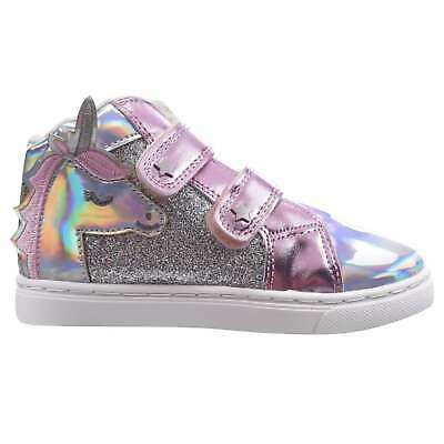 Fabric Kids Strap Trainers Sports Shoes Hi Top Infant High