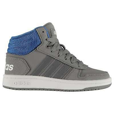 adidas Kids Boys Hoops Mid 2.0 Trainers Sports Shoes Child Lace Up Padded Ankle