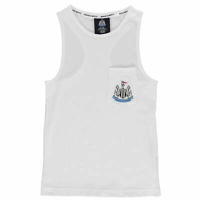 NUFC Kids Boys Muscle Vest Junior Licensed Tank Top Sleeveless Round Neck