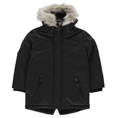 Firetrap Kids Boys Luxury Parka Junior Jacket Coat Top Long Sleeve Lightweight