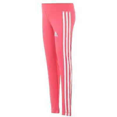 adidas Kids Girls 3 Stripe Tights Junior Performance Pants Trousers Bottoms