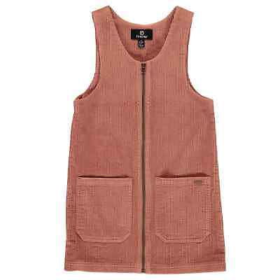 Firetrap Kids Girls Pinafore Infant Dress Long Sleeve Cotton Zip