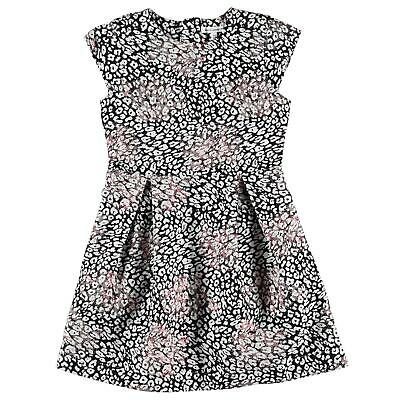 French Connection Kids Girls Floral Dress Skater Sleeveless Round Neck Zip