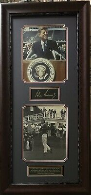President John F. Kennedy JFK  Autograph Framed Photo Picture