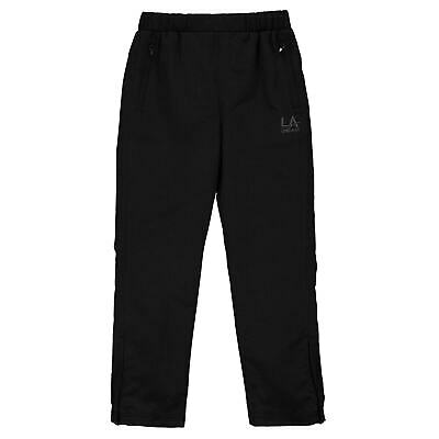 LA Gear Kids Girls Open Hem Woven Pants Tracksuit Bottoms Lightweight Mesh