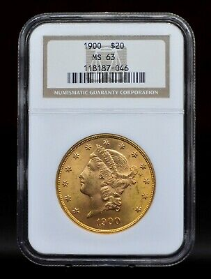 1900 NGC MS63 $20 Liberty Head Double Eagle Gold Coin [119DUD]