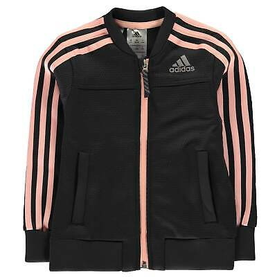 adidas Kids Girls PES Cover Up Jacket Child Tracksuit Top Coat Long Sleeve
