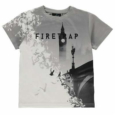 Firetrap Kids Boys Sub T Shirt Junior Crew Neck Tee Top Short Sleeve