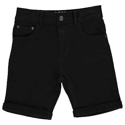 Firetrap Kids Boys Denim Shorts Junior Pants Trousers Bottoms Zip
