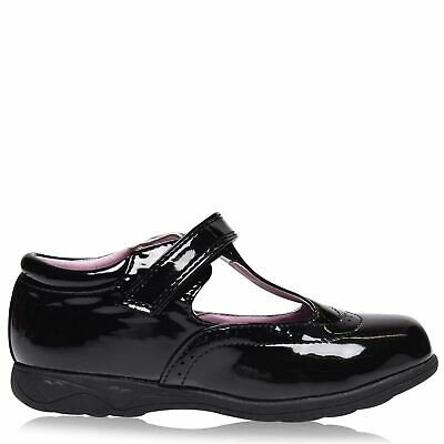 Miss Fiori Kids Girls Tara T Bar Shoes Childs Mary Janes Slip On Hook and Loop