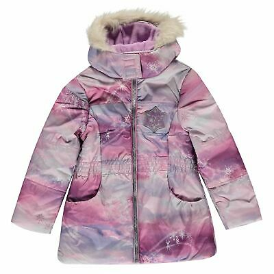 Character Kids Girls Padded Coat Infant Parka Jacket Top Long Sleeve Lightweight