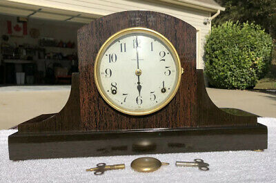1920's Antique Seth Thomas Mantel Shelf Clock Working Adamantine