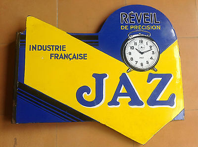 Vintage Sign Advert Enamel Jaz Réveil of Precision Shave - Plaque Advertisement