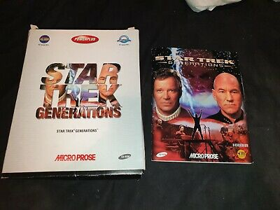 STAR TREK GENERATIONS PC Game Big Box and Manual ONLY