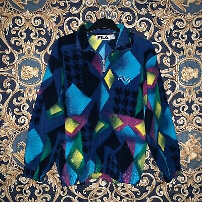 Rarissimo Pile Vintage Fila Multicolor Anni 90'S Style Size Ym Small Hype Street