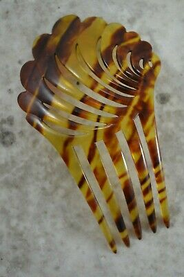 VINTAGE 1920s simulated tortoiseshell celluloid comb hair accessory flapper