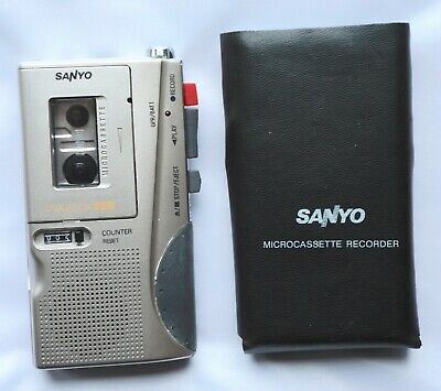 Sanyo Trc-580M Microcassette Recorder-Dictaphone-2 Speed-Case