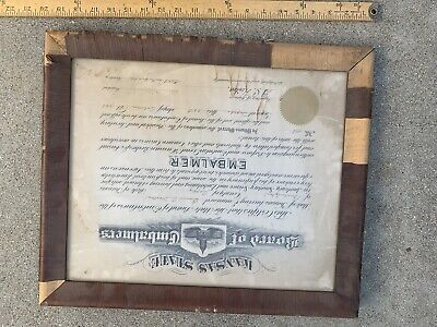 1920 EMBALMING  degree College Embalming Diploma Mortician Funeral framed