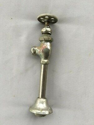 Antique Nickel Brass Sink Toilet Water Supply Shut off Valve Vtg 335-19J
