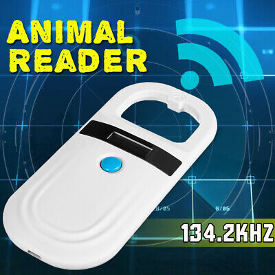 RFID ISO FDX-B EMD Animal Chip Dog Reader Microchip Handheld Pet Scanner UK !