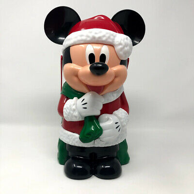 Disney Parks Santa Mickey Mouse Christmas Popcorn Bucket Disneyland
