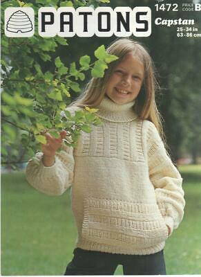 "ARAN SWEATER Knitting Pattern Copy LADIES MENS V//POLO NECK JUMPER 32-42/"" UNISEX"