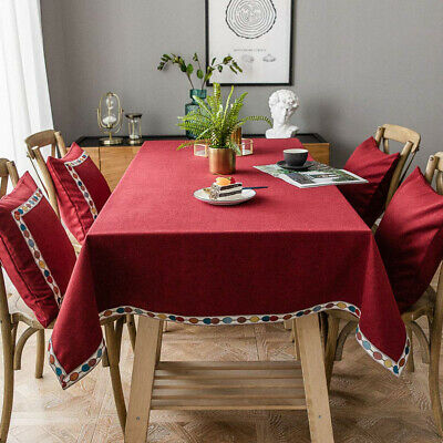 Deggodech Red Christmas Tablecloth Rectangle with 140*140cm/55*55inch,