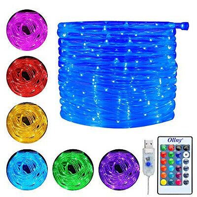 Ollny 10m 100 LED Rope String Lights 16 Colors Changing USB...