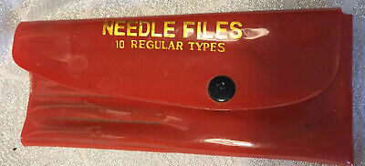 Vintage Needle Files In Pouch /Case