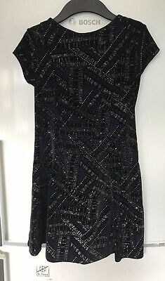 River Island Girls Chirstmas Navy Party Dress 9-10 Years Good Condition