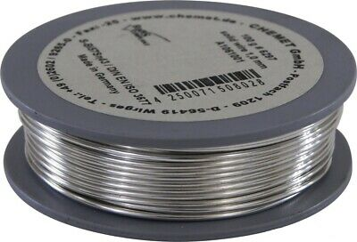 Soldering wire low melting temperature Bi57Sn43 1mm 100g without flux Chemet