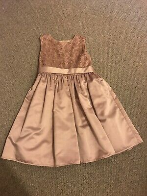 Beautiful Gold Autograph Marks And Spencer Girls Dress 6-7 Never Worn