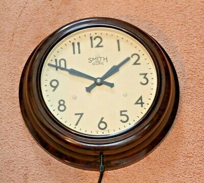 Vintage Smiths Sectric Bakelite Electric Wall Clock - 1945