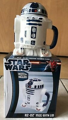 Star Wars R2-D2 Ceramic Mug With Removable Lid - New In Box by Zeon