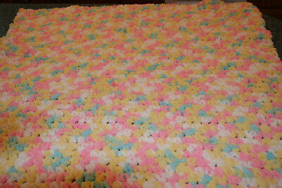 "Handmade Crochet Baby Blanket Super Soft  30"" X 38"" NEW"