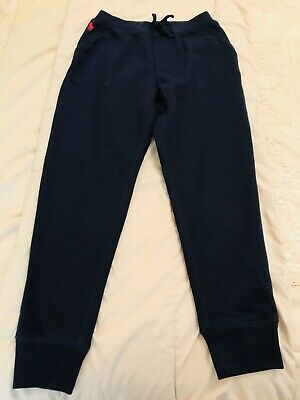 Ralph Lauren Girls New Tracksuit Bottoms Size M (Age 8-10) Navy Blue