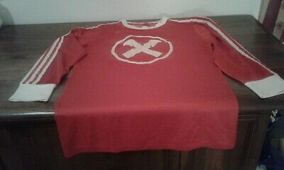 Maglia Shirt Vintage Adidas Erima  Match Worn Football Made In Germany Red