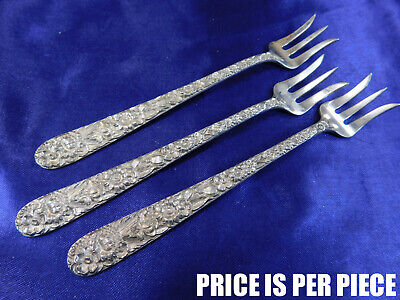 S. Kirk & Son Repousse Sterling Silver Oyster Fork - Very Good Condition T