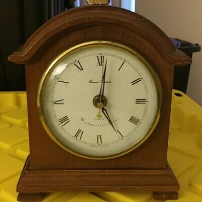 MANTEL CLOCK WESTMINSTER CHIME OPERATED DANIEL DAKOTA 6 1/2 by 9